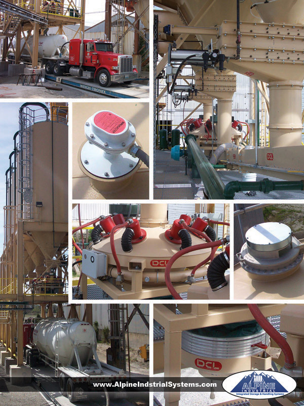 Plant bulk storage and truck load-out system detail