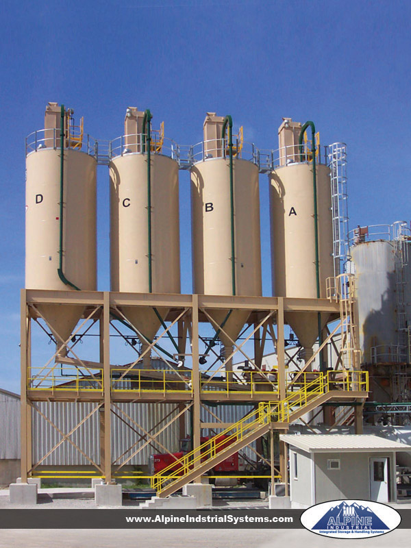 Plant bulk storage and truck load-out system