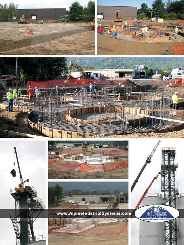 Project site construction